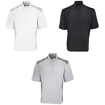 Adidas Mens Club Wind Water Resistant & Windproof Short Sleeve 1/4 Zip Neck Top