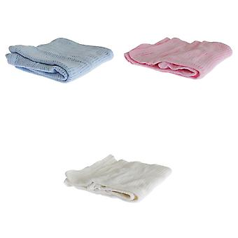 Baby Boys/Girls Knitted Cotton Blanket
