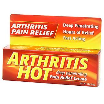 Arthritis hot deep penetrating pain relief creme, 3 oz