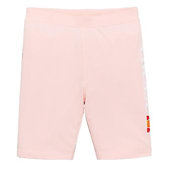 Ellesse Heritage Suzina Junior Kids Girls Fitness Fashion Cycle Short Light Pink