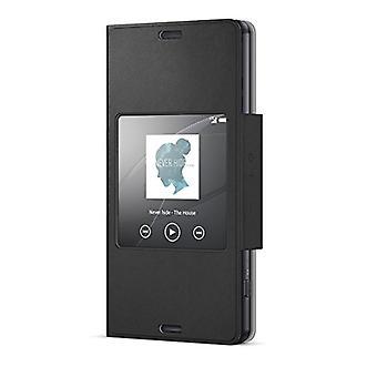 Sony bulk SCR26 svart stil dekk med vinduet for Xperia Z3 kompakt