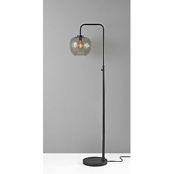"9"" X 14"" X 58.75"" Brushed Steel Metal Floor Lamp"