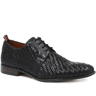 Jones Bootmaker Mens Albie Woven Leather Derby Shoe