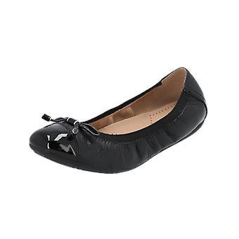 Geox D LOLA 2FIT C Damen Ballerinas Schwarz Slippers Espadrilles Loafer