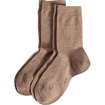 אספרי בסיסי לסרוג באמצע עגל 2 גרביים חבילת-אגוז מוסקט חום