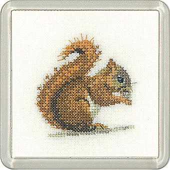Heritage Crafts Little Friends Coaster Kit - Red Squirrel