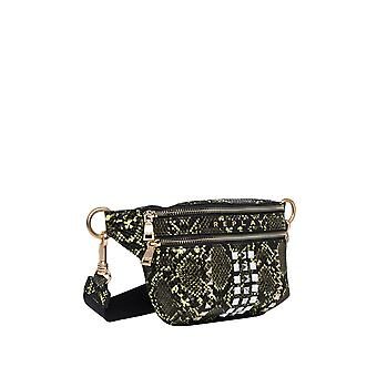 Replay Women's Shiny Printed Snake Belt Bag