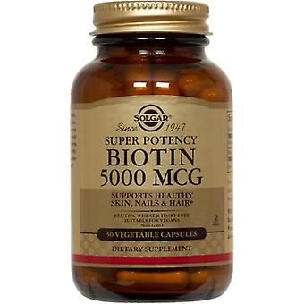 Solgar Biotin 5000 Mcg Vegetable Capsules 50
