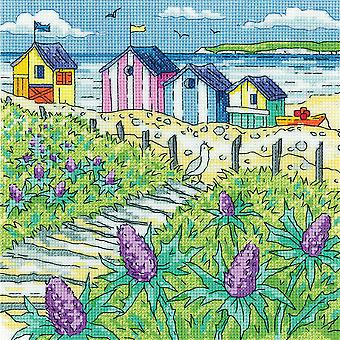 Heritage Crafts Cross Stitch Kit - Sea Holly Shore (Aida)