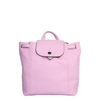 Longchamp 1306757p36 Women's Pink Leather Backpack