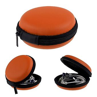 1pc Leather Case For Tracker Band Sport Fitness Activity Wristband Pocket Size[Orange] BUY 2 GET 1 FREE