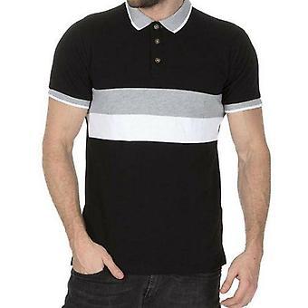 Mens Stripe Pique Polo Shirts