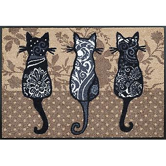 Cat gang washable floor mat wash + dry