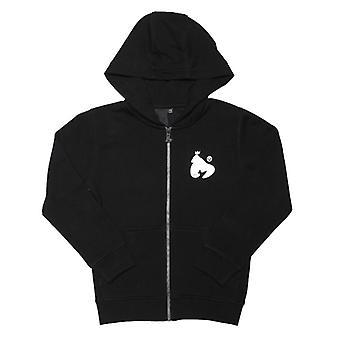 Boy's Money Junior Block Signature Zip Hoody in Black