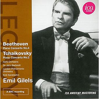 Beethoven/Tchaikovsky - Beethoven: Piano Concerto No. 4; Tchaikovsky: Piano Concerto No. 2 [CD] USA import