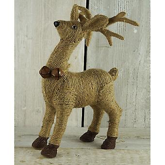 Jute Standing Reindeer Decoration