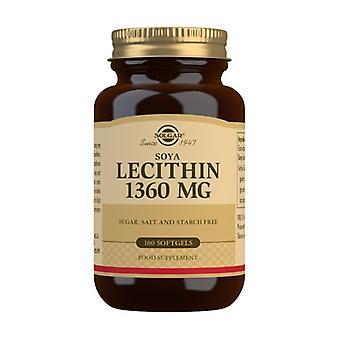 Soy Lecithin 100 softgels of 1360mg (1360mg)