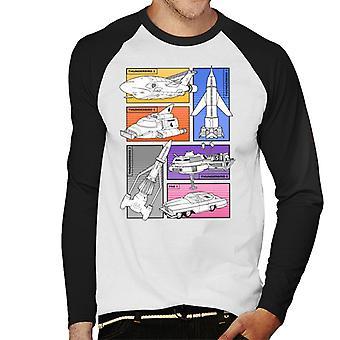 Thunderbirds Vehicle udskæringer mænd ' s baseball langærmet T-shirt