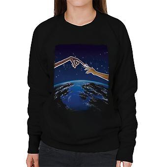 E.T. Earth Movie Poster Women's Sweatshirt