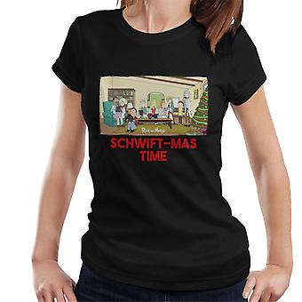 Rick og Morty schwiftmas tids teknologi overtagelse kvinder ' s T-shirt