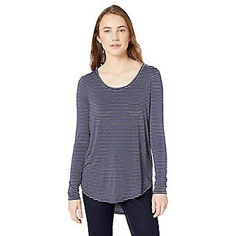 Brand - Daily Ritual Women's Jersey Long-Sleeve Scoop Neck Shirt, Navy...