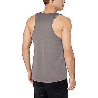Essentials Men's Tech Stretch Performance Tank Top Shirt, Light Grey, ...