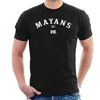 Mayans M.C. Motorcycle Club Logo White Men's T-Shirt