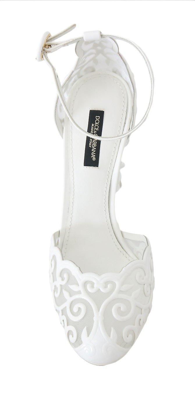 Dolce & Gabbana White Ankle Strap Fairytale Shoes -- LA43907248