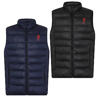 Liverpool FC Official Football Gift Mens Padded Body Warmer Jacket Gilet