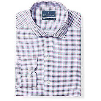 BUTTONED ALAS Miehet&s Tailored Fit Cutaway-kaulus kuvio ei-rauta mekko paita,...