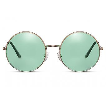 Sunglasses Unisex all around full-edgecated cat. 3 gold/green