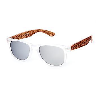 Solglasögon Unisex Wayfarer grå/transparent (20-191)