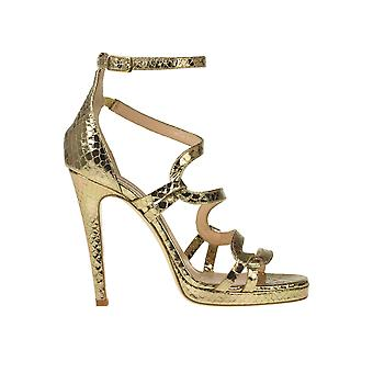 Chiarini Bologna Ezgl463003 Women's Gold Leather Sandals