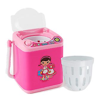 Mini Multifunction Kids Washing Machine Beauty Sponge Brushes Washer Pretend Play Toys With Dry Function