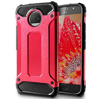 Shell to Motorola Moto G5s Plus Red Armor Protection Case Hard