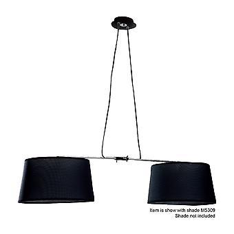 Inspiriert Mantra - Habana - Deckenanhänger 2 Licht mit verstellbaren Körper (SHADE verkauft separateLY) E27 schwarz, poliert Chrome