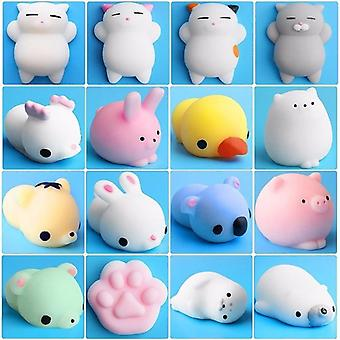 Mini Animal Toy For Baby Cat Soft Cute Sticky Antistress Ball Squeeze Rising