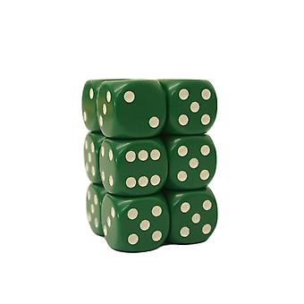 Chessex Opaque 16mm D6 x 12 - Green/white
