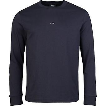 Apc Chris Micro Logo Long Sleeved T-Shirt