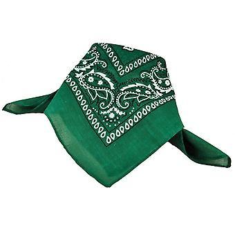 Krawatten Planet grün, weiß und schwarz Paisley gemusterte Bandana Neckerchief