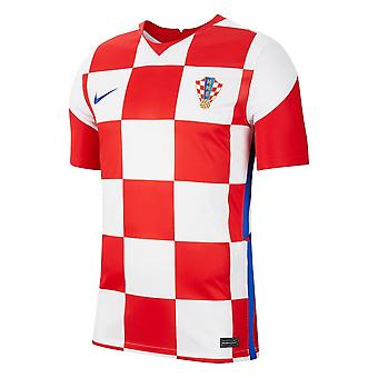 2020-2021 Kroatien Hem Nike Fotboll Skjorta