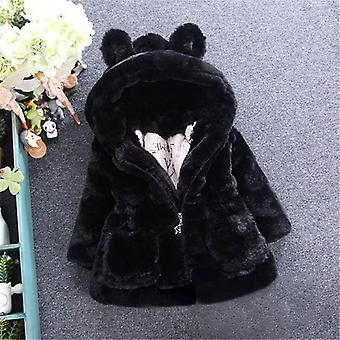 Baby Girls Jacket Kids Boys Fashion Coats Artificial Fur Warm Hooded Autumn Winter Infant Clothing Children's
