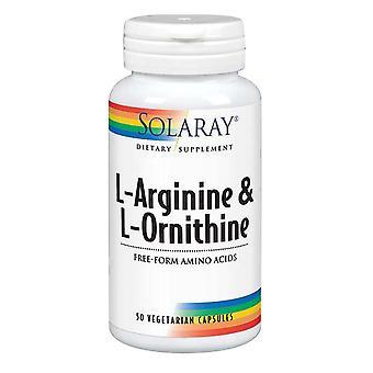 Solaray L-Arginin & Ornithin, 50 Kapseln