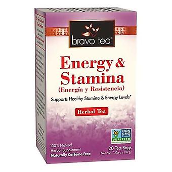 Bravo Tea & Herbs Energy & Stamina Tea, 20 bags