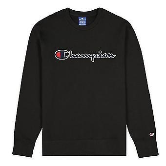 Champion Script Logo Fleece Crewneck 214720KK001 universel toute l'année hommes sweat-shirts
