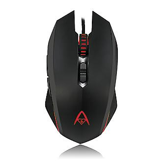 Multi-colour programmable gaming mouse with 7 buttons