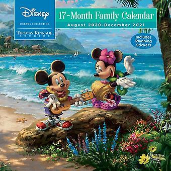 Disney Dreams Collection by Thomas Kinkade Studios 17Month 20202021 Family Wa by Kinkade & Thomas