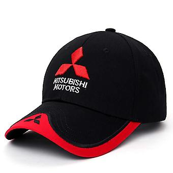 New 3d Mitsubishi Hat Cap, Car Logo Moto Racing Baseball Adjustable Casual