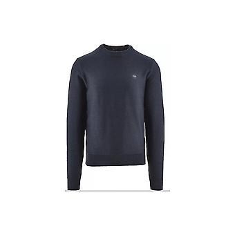 Hugo Boss Anitoba Cotton Slim Fit Navy Marl Sweater