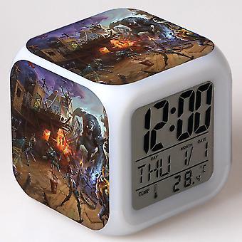 Colorful Multifunctional LED Children's Alarm Clock -Quinze dias #5